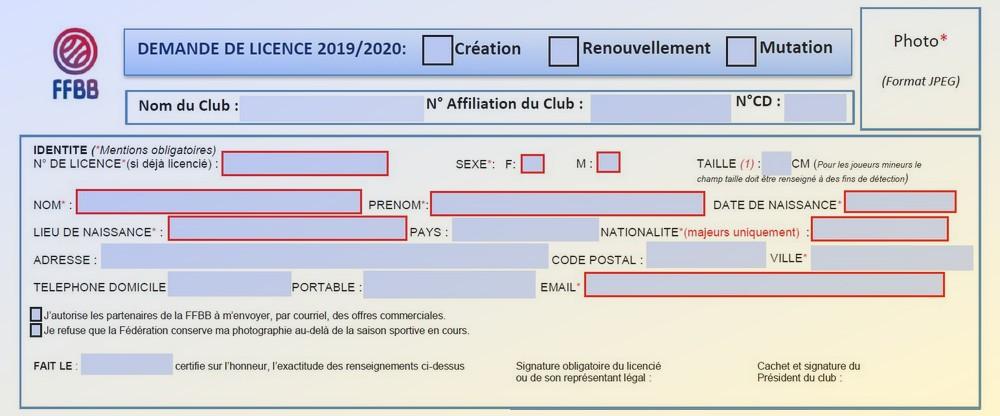 Dossier de licence